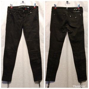 Guess Jeans black lace up 26 skinny pants